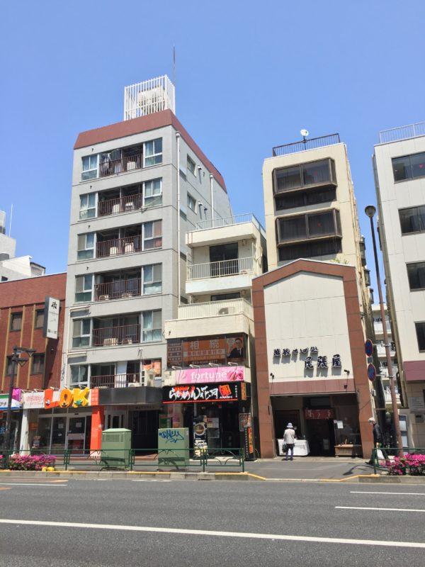 中野坂上駅3番出口から見た事務所の外観